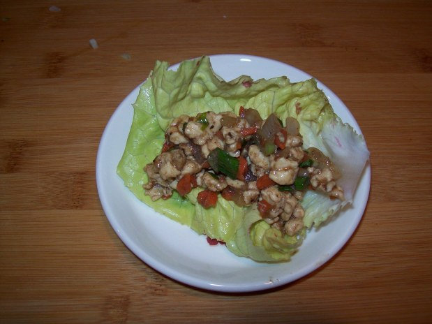 Five Spice Chicken in Lettuce wraps