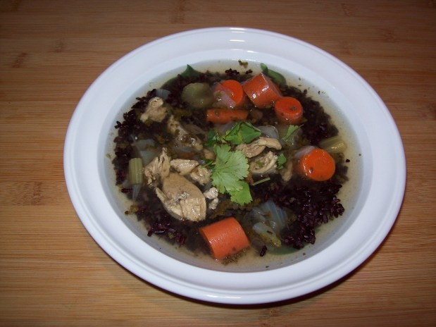 Chicken Soup with Black Rice