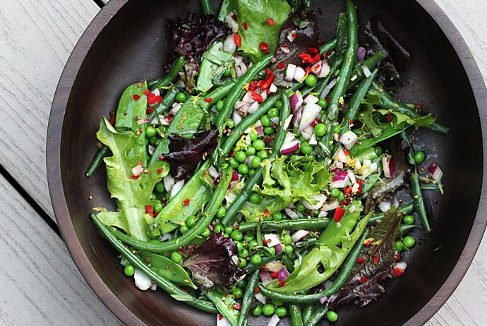 Lemony Green Bean Salad With Feta, Red Onion, And Marjoram Recipe ...