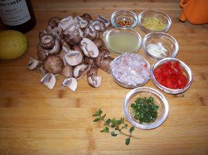Marinated Mushrooms prep