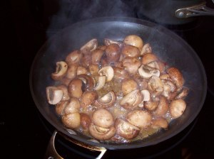 Marinated Mushrooms cooking