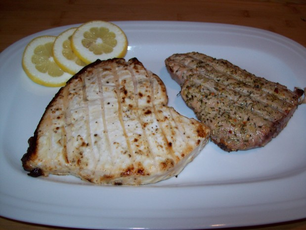 Grilled Swordfish and Tuna Steaks