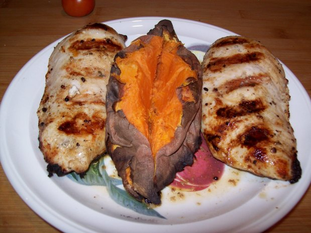 Quick Grilled Rosemary Chicken and SweetPotato