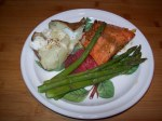 Myer lemon glazed salmon