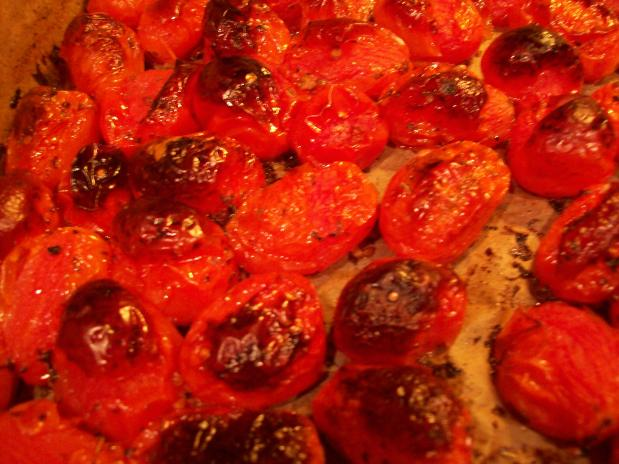 Roasted Baby Roma Tomatoes