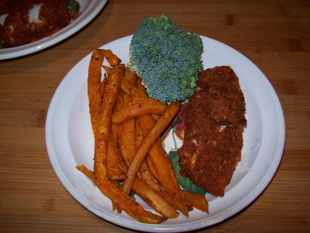 Spicy Oven-Baked Fish and Sweet Potato Chips | Gourmet Dad, Don't ...