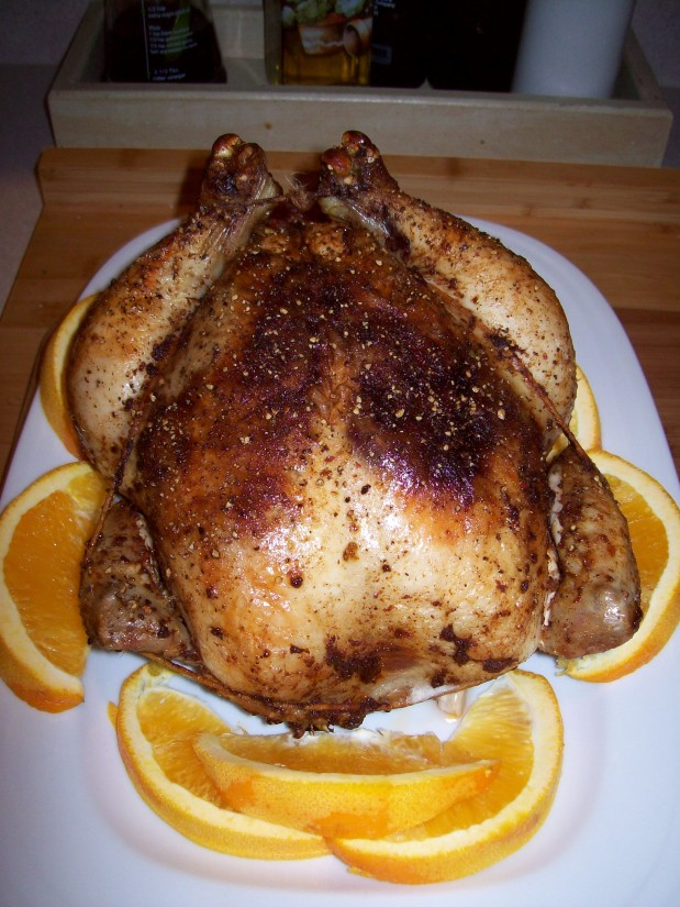 Roast Chicken with Orange-Spice Rub