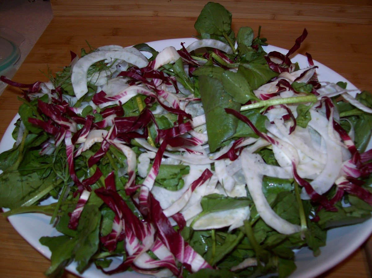 Endive, Radicchio, Fennel, and Watercress Salad – Gourmet ...