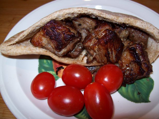 Pork Carnitas in a Pita Pocket