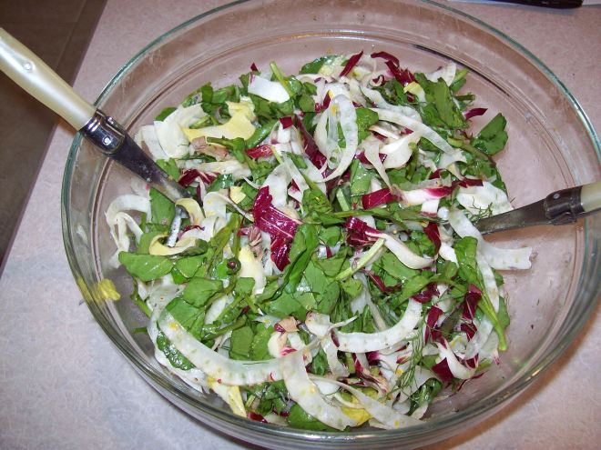 salad of radicchio and endive with fennel apple and fennel salad ...