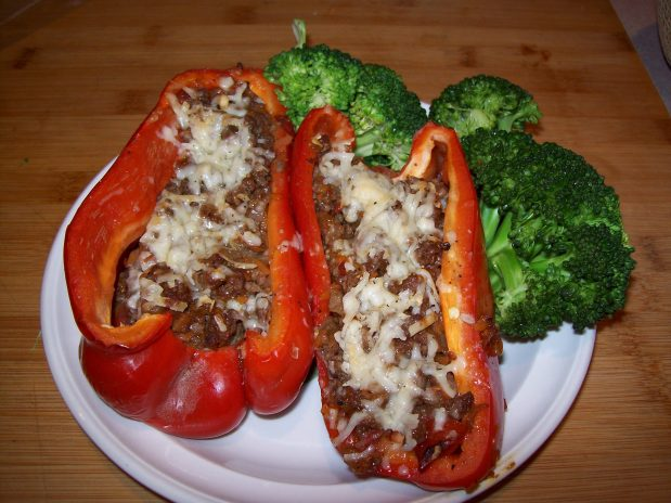 Bison Stuffed Red Bell Pepper