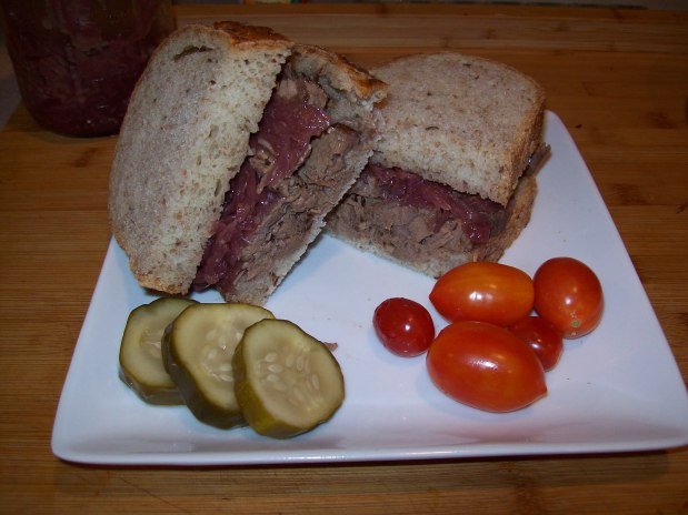 Reign on Brisket on Rye Halftime Sandwich – Week 8