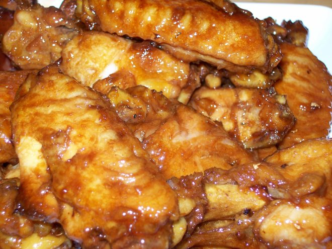 Mut Jup Mun Gai Yik or Honey Soy Braised Chicken Wings