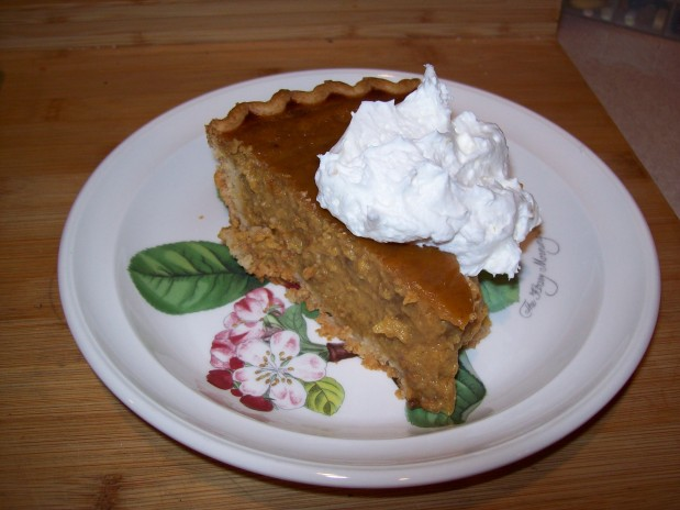 Dairy Free- Pumpkin Coconut Pie – coud have been Gluten-Free