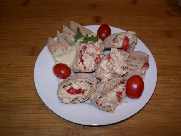 Tuna Fish made with Hummus Poppers