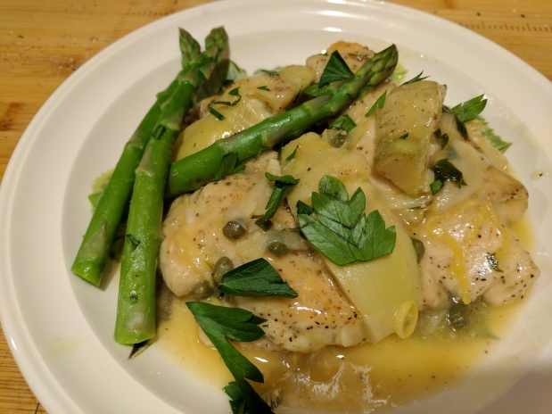 Chicken Piccata with Artichokes – Gluten Free substitute cornstarch for flour
