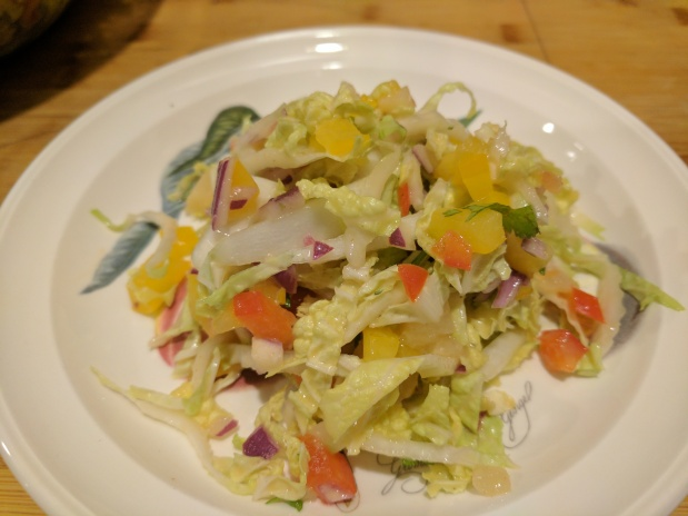 Pineapple Cilantro Napa Cabbage Slaw