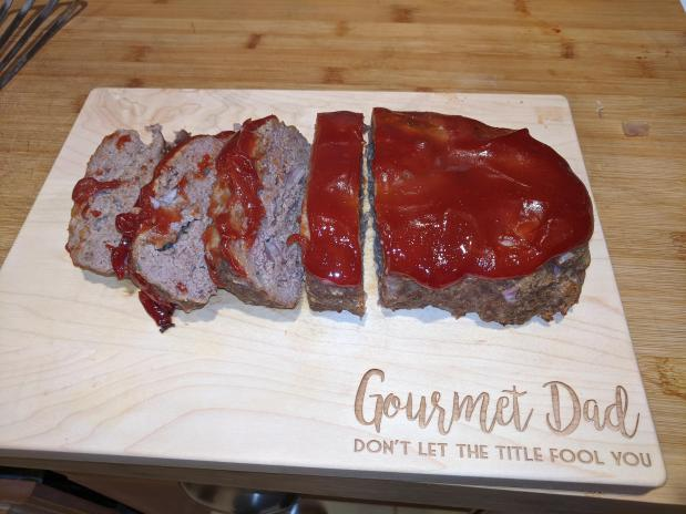 Simple Meatloaf with Roasted cabbage
