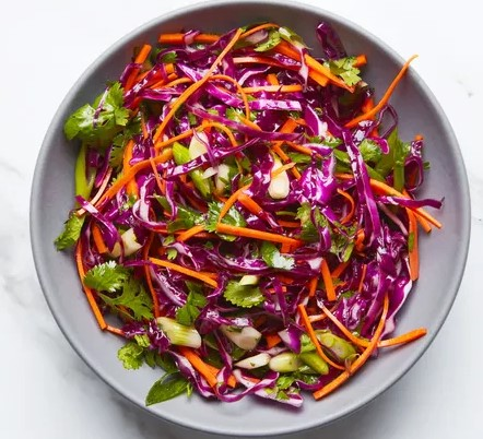 Red Cabbage Slaw with Cilantro andCitrus